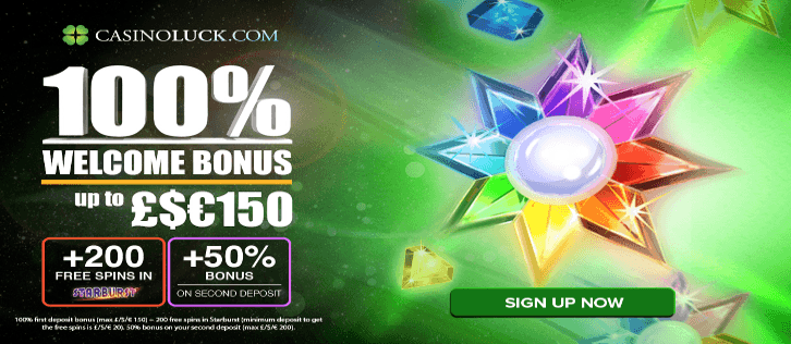 New welcome bonus available at Casino Luck!
