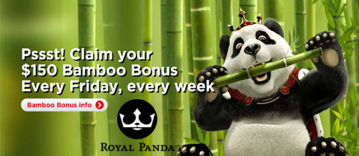 Royal Panda Casino: weekly $150 Bamboo Bonus