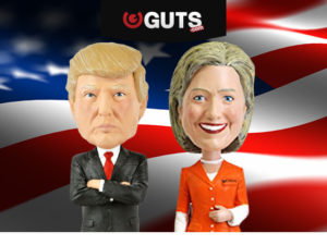 Choose your side – TRUMP or CLINTON! presidential game email banner