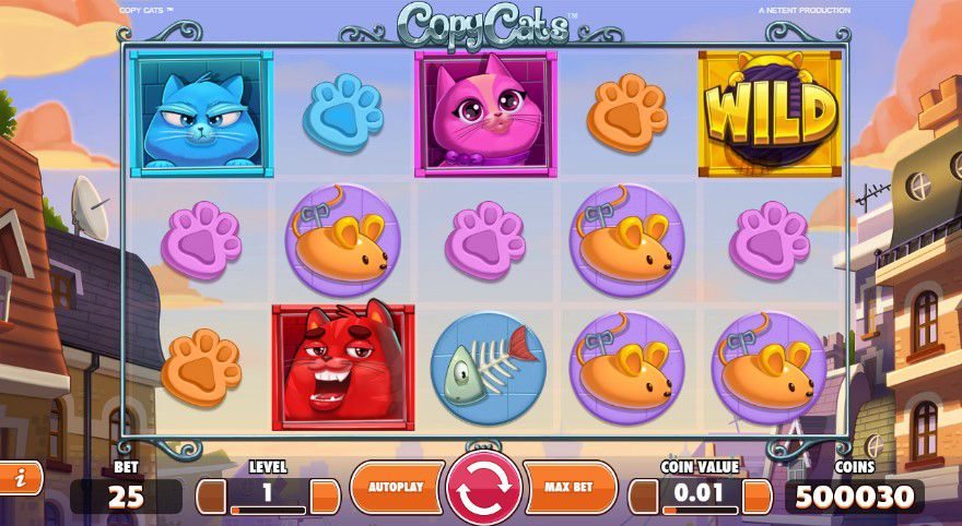 NetEnt's Copy Cat Slot is live and ready for playing Copy Cats Slot
